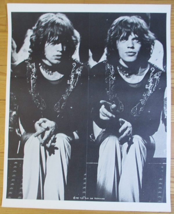 "ROLLING STONES - MICK JAGGER Vintage Poster 26"" x 21"" Plus One Productions"