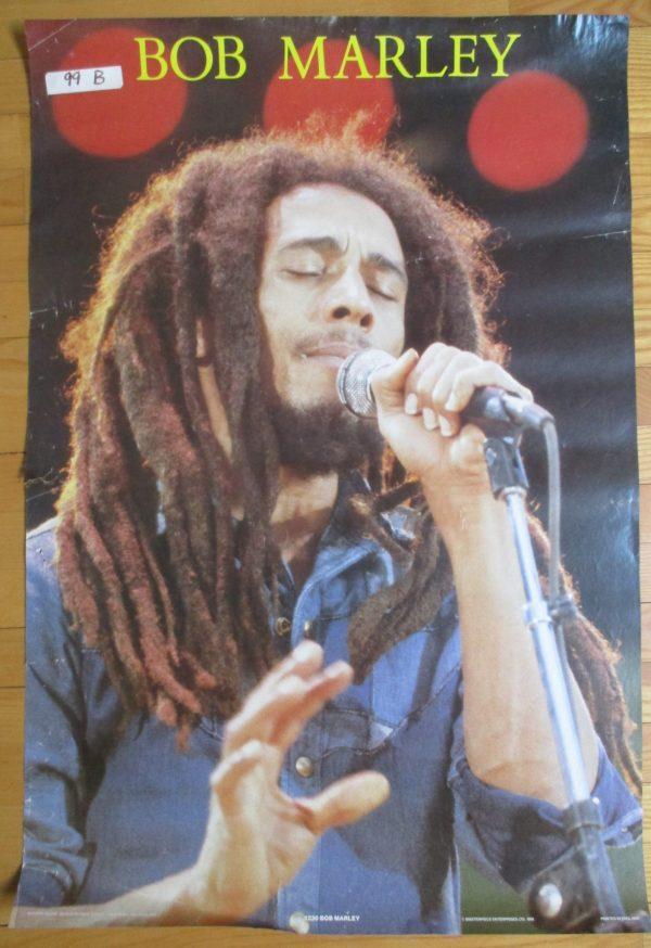 "MARLEY, BOB Vintage Poster 1988 Original 35"" x 23"" England RARE"