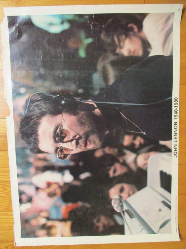 "LENNON, JOHN Vintage Poster ""1940-1980"" Original 33″ x 24″"