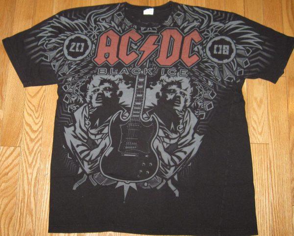 AC/DC BLACK ICE 2008 TOUR ANGUS SG T-Shirt L