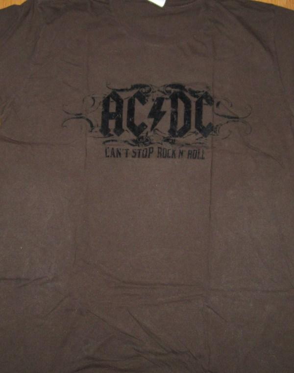 AC/DC CAN'T STOP ROCK N' ROLL T-SHIRT L