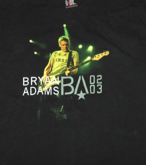 ADAMS, BRYAN 2002/03 CONCERT T-SHIRT XL