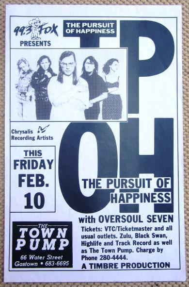 T.P.O.H GIG Tour Poster Vancouver, Canada ORIGINAL