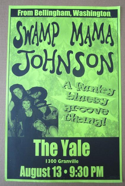 SWAMP MAMA JOHNSON Concert GIG Tour Poster Vancouver, Canada ORIGINAL