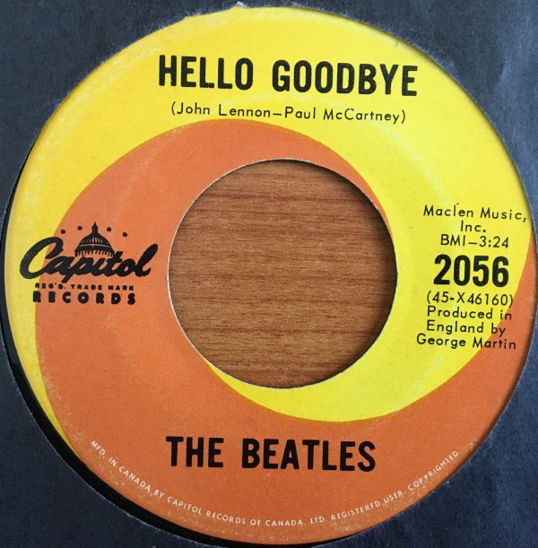 BEATLES, The – Canadian 45 RPM – 2056 – HELLO GOODBYE / I AM THE WALRUS