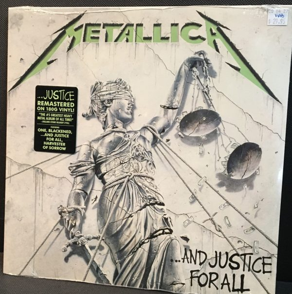 "METALLICA – ""And Justice For All"" 180 Gram Sealed LP"