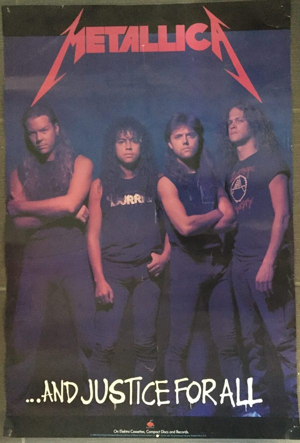 """METALLICA """"And Justice For All"""" Vintage Record Store Poster"""
