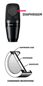 condenser mic diaphragm