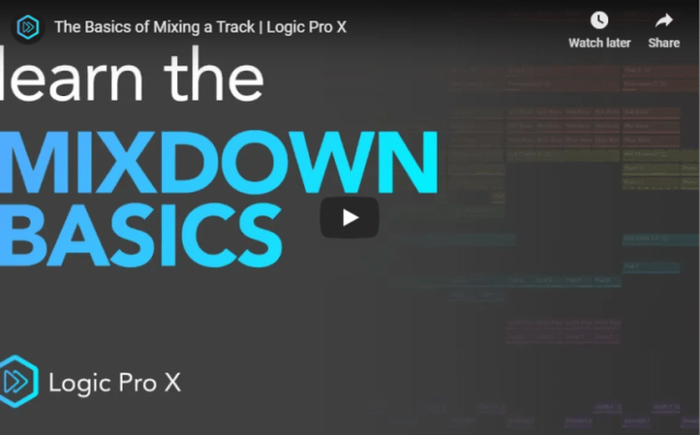 logic-pro-x mixing