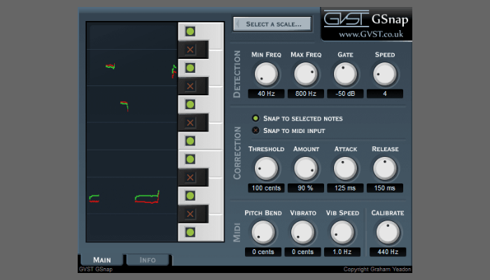 GSnap Autotune plugin