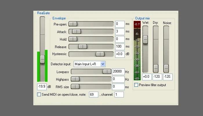 ReaGate vst plugin
