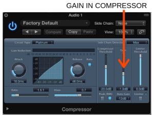 Input Gain in Compressor