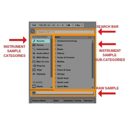 ableton live browser feature