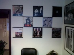 Records On Walls at the office!