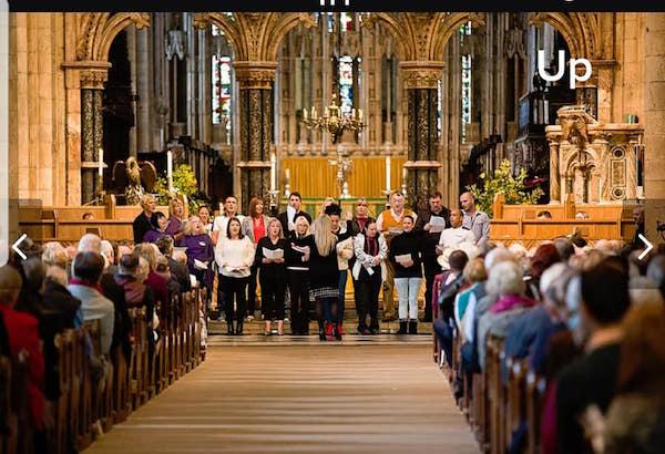 Singing at Durham Cathedral