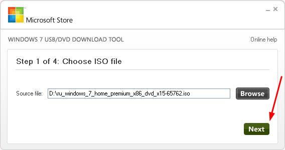 ISO-afbeelding van Windows 7 USB / DVD