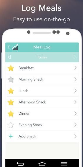 screenshot meal log