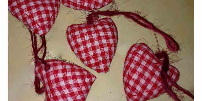 Painting Fabric Hearts