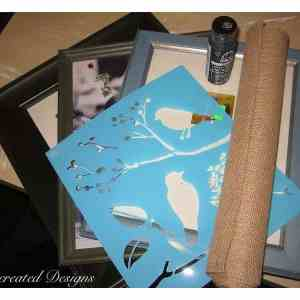 supplies for birds on burlap pictures