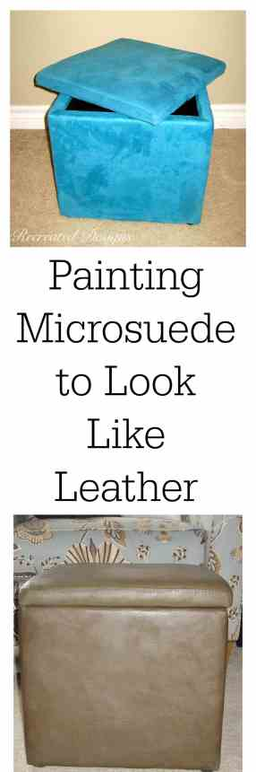 painting microsuede to look like leather