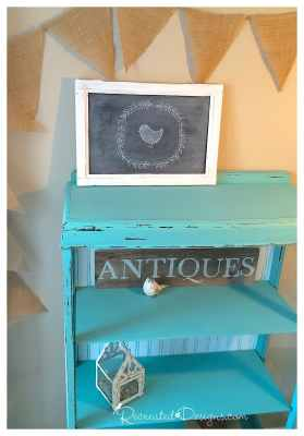 recreated-antique-bookcase-distressing
