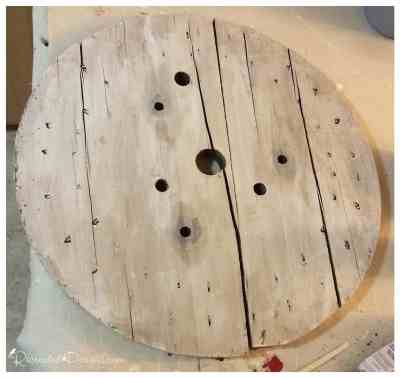 wooden-spool-end-painted-missmustardseed-ironstone