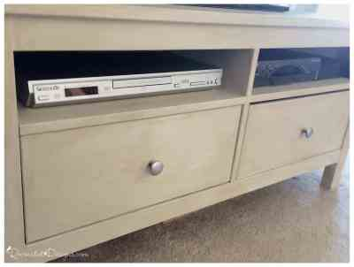 IKEA tv stand painted with Fusion Mineral Paint