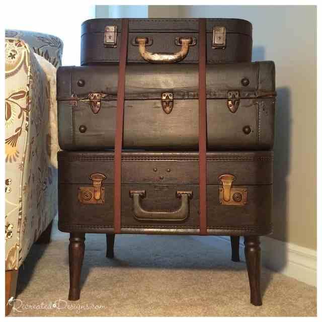 vintage suitcase stack