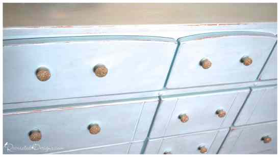 a painted dresser using Country Chic Paint in Icicle