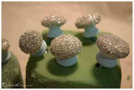german glass glitter knobs