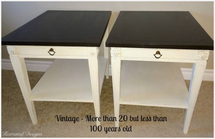 example of vintage side tables