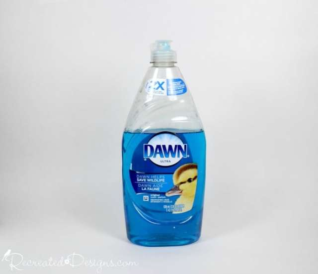 Dawn dish soap used for cleaning paint brushes