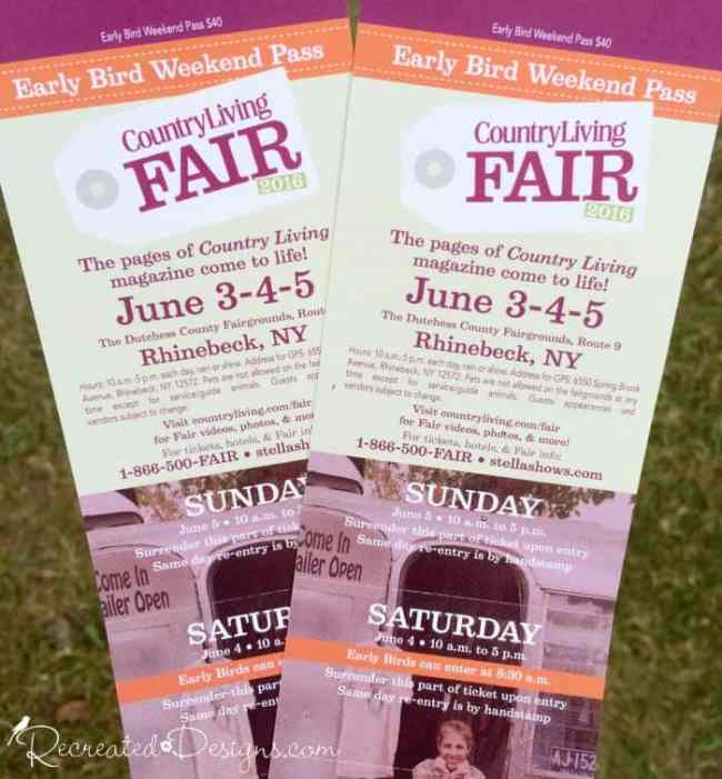tickets to the Country Living Fair 2016