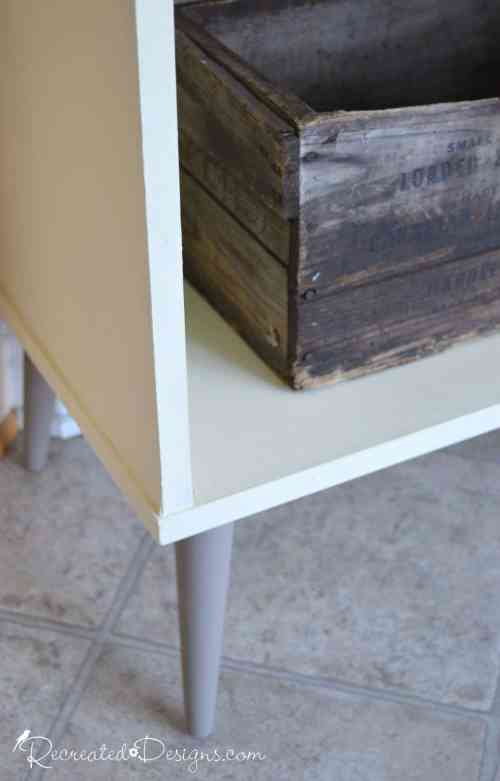 retro cabinet painted with Annie Sloan Chalk paint in Coco and Cream