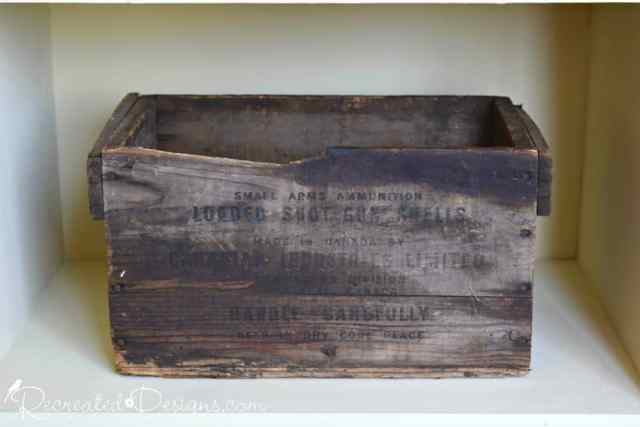 antique ammo box from Canada