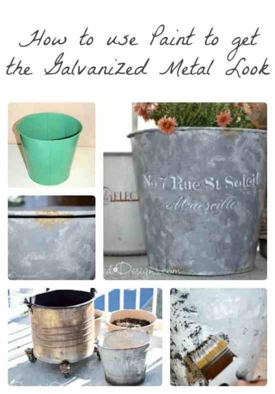 How to use only paint to get the look of Galvanized Metal