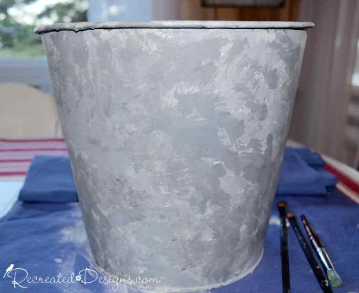 using paint to get a faux galvanized metal look