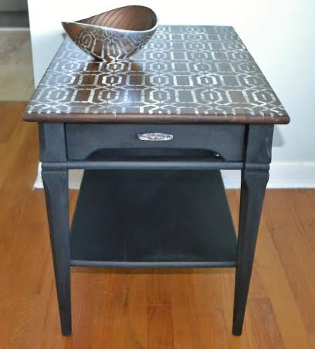 black-sidetable-tribal-cathy-haley