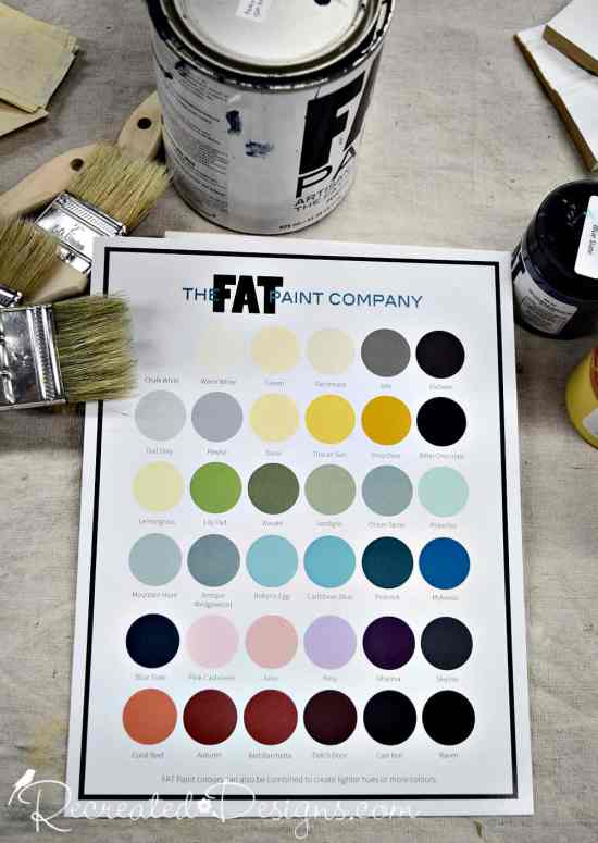 FAT colour chart