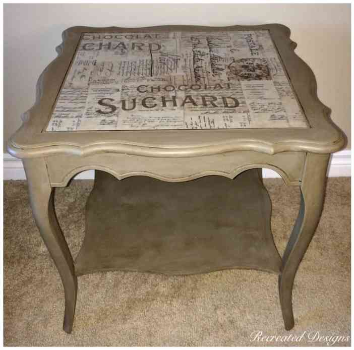 Annie Sloan Chalk Paint in Coco with Dark Wax