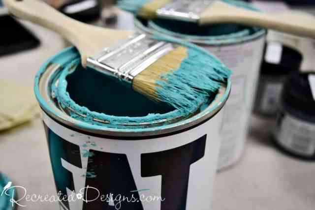 FAT chalk style paint with a paint brush sitting on top