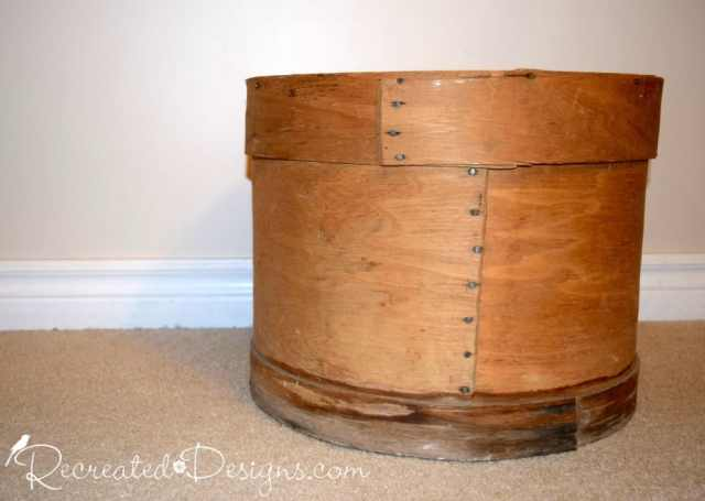 an antique cheese barrel found in Perth, Ontario Canada