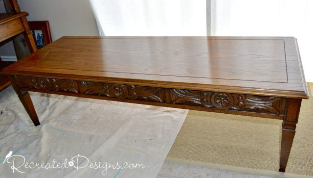solid wood vintage coffee table