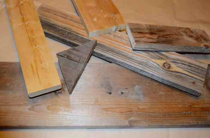 pile scrap, reclaimed wood