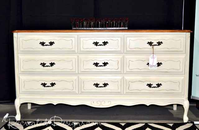 a beautiful dresser painted cream