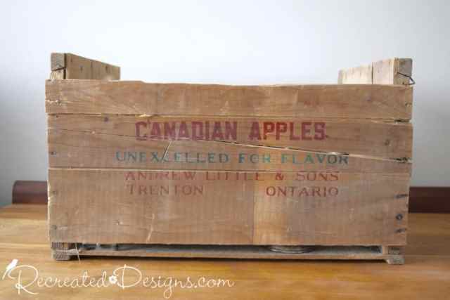 70 year old apple crate from Ontario