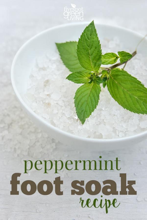 peppermint foot soak