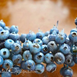 artificial blueberry wreath