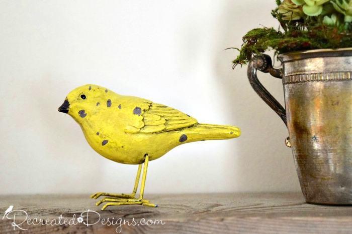 little wrought iron bird