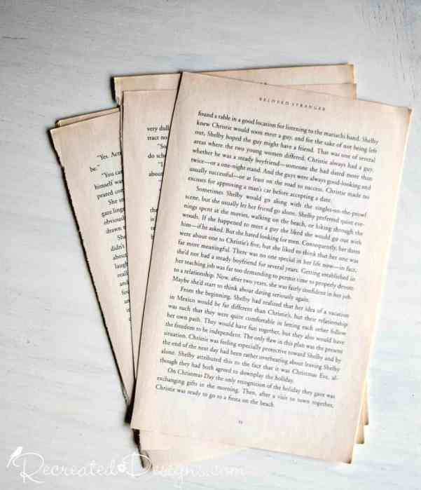 old book pages sliced out of a book